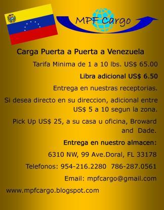 DOOR TO DOOR VENEZUELA 6.50