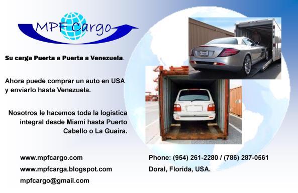 Envio de Carros a Venezuela